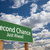 yeni · yeşil · yol · işareti · dramatik · bulutlar · gökyüzü - stok fotoğraf © feverpitch