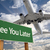 See You Later Green Road Sign and Airplane Above stock photo © feverpitch