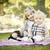 tatlı · küçük · kız · bebek · kardeş · park · oturma - stok fotoğraf © feverpitch