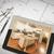 ordinateur · comprimé · terminé · tablettes · maison · plans - photo stock © feverpitch
