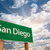 san diego green road sign over clouds stock photo © feverpitch