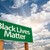 black lives matter green road sign with dramatic clouds and sky stock photo © feverpitch