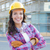 young attractive female construction worker wearing hard hat and stock photo © feverpitch