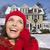 sorridente · mulher · inverno · roupa · fora - foto stock © feverpitch