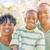 gyönyörű · afroamerikai · családi · portré · kívül · együtt · család - stock fotó © feverpitch