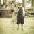1920 · romantische · paar · oude · cabine · aantrekkelijk - stockfoto © feverpitch