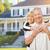 heureux · couple · de · personnes · âgées · maison · femme · cheveux - photo stock © feverpitch