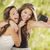 attractive mixed race girlfriends taking self portrait with came stock photo © feverpitch