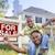 afroamerikai · család · ingatlan · felirat · új · ház · kész - stock fotó © feverpitch