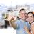 militar · casal · casa · teclas · cozinha · desenho - foto stock © feverpitch