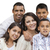 happy attractive hispanic family portrait on white stock photo © feverpitch