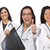hispanic female doctors or nurses with thumbs up holding x ray stock photo © feverpitch