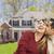 счастливым · гонка · пару · дома · красивой · женщину - Сток-фото © feverpitch