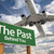 the past green road sign and airplane above stock photo © feverpitch