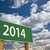 2014 green road sign over clouds stock photo © feverpitch