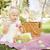 cute · easter · eggs · coperta · da · picnic · erba · Pasqua - foto d'archivio © feverpitch