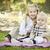 sorridente · família · parque · menina · natureza · saúde - foto stock © feverpitch