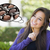 Pensive Woman with Chocolate Candy Inside Thought Bubble stock photo © feverpitch
