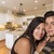 Hispanic Couple Inside Custom Kitchen Interior stock photo © feverpitch