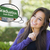 Young Woman with Thought Bubble of Graduation Green Road Sign  stock photo © feverpitch