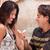 女性 · 見える · 婚約指輪 · 水平な · 写真 - ストックフォト © feverpitch