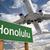 Honolulu · zöld · jelzőtábla · repülőgép · fölött · drámai - stock fotó © feverpitch