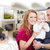 military family in front of living room drawing photo combinatio stock photo © feverpitch