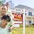 afro-amerikaanse · familie · huis · uitverkocht · teken · gelukkig - stockfoto © feverpitch