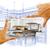 mãos · cozinha · projeto · desenho · foto - foto stock © feverpitch