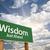 onderwijs · groene · verkeersbord · wolken · vooruit · dramatisch - stockfoto © feverpitch