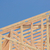wood home framing abstract at construction site stock photo © feverpitch