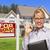 знак · дома · женщины · домой · продажи · портрет - Сток-фото © feverpitch