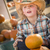 little boy in cowboy hat at pumpkin patch stock photo © feverpitch