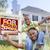 afroamerikai · család · ingatlan · felirat · ház · új · ház - stock fotó © feverpitch
