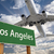 Los Angeles Green Road Sign and Airplane Above stock photo © feverpitch