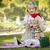 küçük · kız · şapka · bebek · kardeş · tatlı - stok fotoğraf © feverpitch
