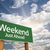 weekend just ahead green road sign stock photo © feverpitch