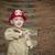 aanbiddelijk · kind · jongen · brandweerman · hoed · spelen - stockfoto © feverpitch