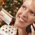 telefone · mulher · cartão · de · crédito · árvore · de · natal · bela · mulher - foto stock © feverpitch