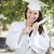 Graduating Mixed Race Girl In Cap and Gown with Diploma stock photo © feverpitch