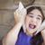 giovane · ragazza · giocare · mare · conchiglie · orecchie - foto d'archivio © feverpitch