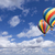hot air balloons in the beautiful blue sky stock photo © feverpitch
