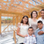 young hispanic family on site inside new home construction frami stock photo © feverpitch