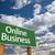 online business green road sign and clouds stock photo © feverpitch