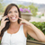 mooie · tuinman · mobiele · telefoon · lachend · vrouw · naar - stockfoto © feverpitch