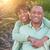 afetuoso · jovem · africano · americano · casal · feliz · romântico - foto stock © feverpitch
