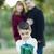 fiatal · félvér · család · karácsony · portré · családi · portré - stock fotó © feverpitch