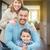 boldog · félvér · család · ház · fiatal · gyönyörű - stock fotó © feverpitch