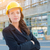 portrait of young attractive professional female contractor wear stock photo © feverpitch