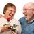 felice · senior · marito · Rose · Red · moglie · isolato - foto d'archivio © feverpitch